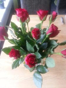 Röda rosor från Ulf